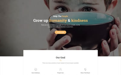Vorosa - Nonprofit charity hub fundraising WordPress Theme