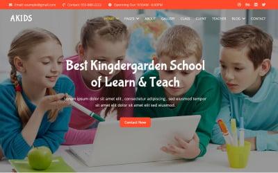 Akids - Kingdergarden School Website Template