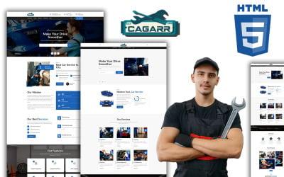 Cagarr - Minimal Garage Workshop HTML Website Template