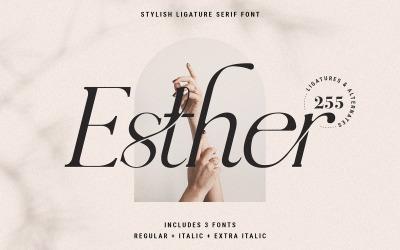 Esther - Ligature Serif Font Family