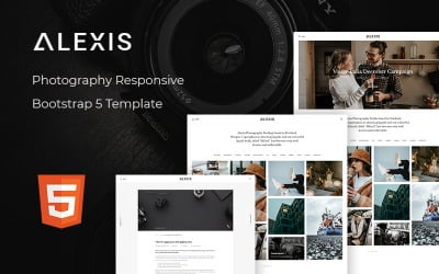 Alexis – Photography Responsive Bootstrap 5 Website Template