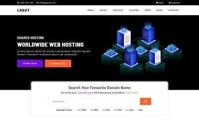 LHOST - Multipurpose Web Hosting , Responsive HTML5 Template