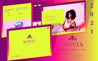 NOVIA - modelo de slide do Google