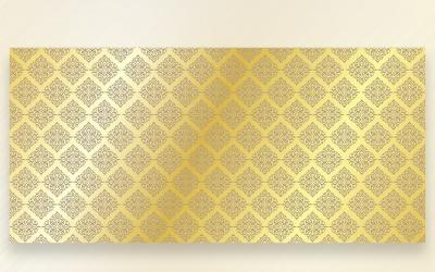 Ornament Pattern Golden & Suntan Background