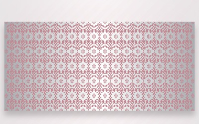 Ornament Pattern Pink And Silver Background
