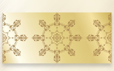 Ornament Pattern Sky golden And Copper Background