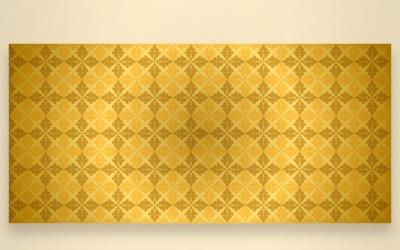 Ornament Wzór Złote I żółte Tło