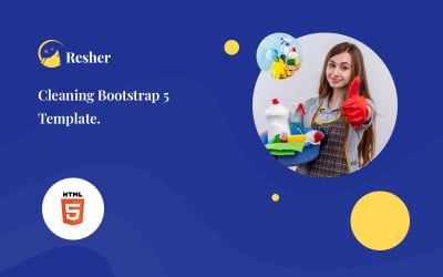 Resher - Cleaning Service Bootstrap 5 Website Template