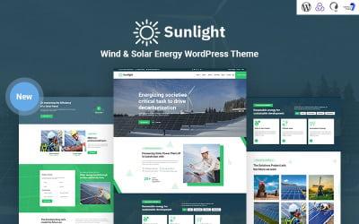 Sunlight - Tema WordPress reattivo all'energia eolica e solare