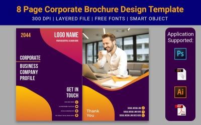 8 Page Minimal Business Brochure Design Template Marketing
