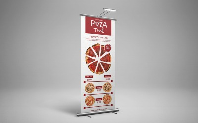 Pizza Time Roll Up Banner