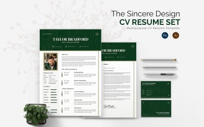 Sincere Design CV Printable Resume Templates