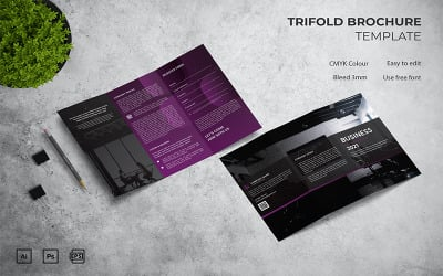 Business - Trifold Brochure Template
