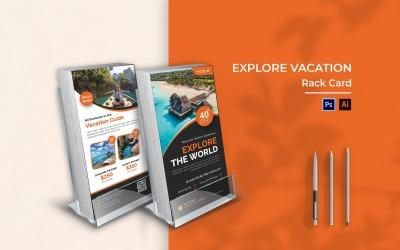 Explore Vacation Rack Card Brochure