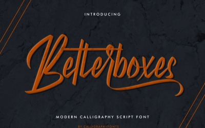 Betterboxes Handwritten Brush Font