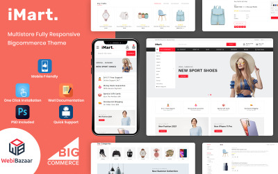 Imart - Тема для багатоцільової електронної комерції Інтернет-магазину Bigcommerce