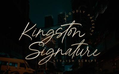 Kingston Signature - Stylish Script Fonts