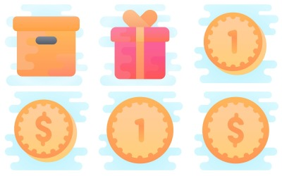 Ecommerce Icon Pack in Cute Clipart Style