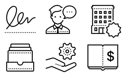 Business Icon Pack in Dotted Style