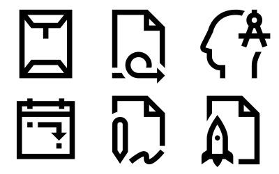 Windows 10风格的业务图标包
