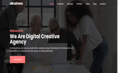aBusiness - Digital Agency One Page Portfolio & Corporate Business Landing Page Template