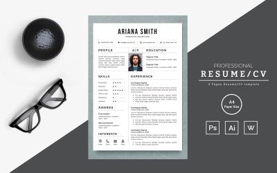 Arina Director Printable Resume Templates
