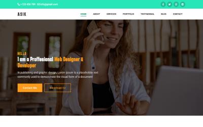 Asik - Szablon strony docelowej portfela osobistego Bootstrap5