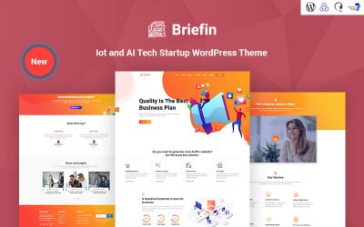 Briefin is an IoT and AI Tech Startup Responsive WordPress Theme