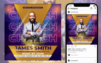 Conference Church Flyer Template