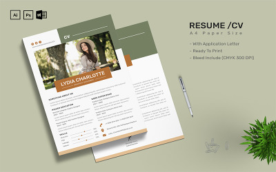 Lydia Charlotte - CV Printable Resume Templates
