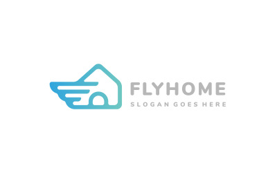 Fast House Wing Logo Template