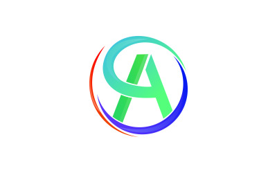 Letter A Colorful Circle Logo Template