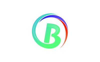 Letter B Colorful Circle Logo Template