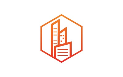 Modern City Hexagon Logo Template
