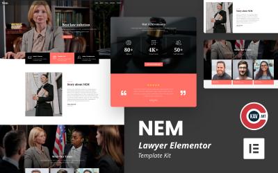 Nem - Lawyer Elementor Kit