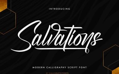Salvations Calligraphy Script Font