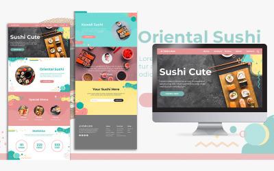 Cake Landing Page Design PSD sablon