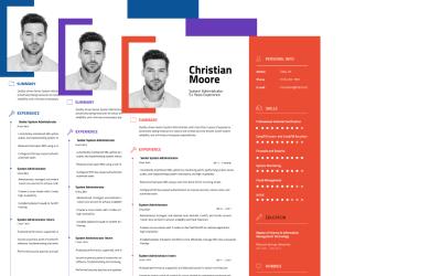 John Smith - IT System Administrator CV Resume Template