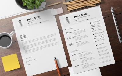 Minimalist Printable Resume Template Vol.3