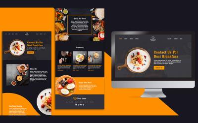 Modèle PSD de conception de page de destination pour les amoureux de la nourriture