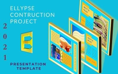 Presentazione PowerPoint del progetto Ellypse-Contruction Tempalte