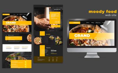 PSD-ontwerpsjabloon voor pizza-bestemmingspagina