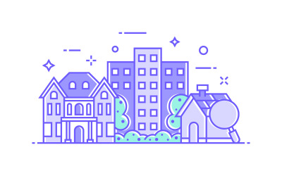 Real estate and House Illustration