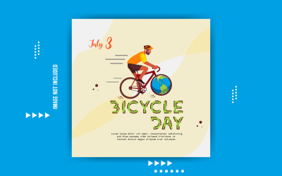 World Bicycle Day Social Media Vector Templates