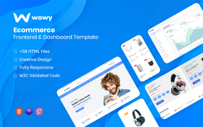 Wowy - Bootstrap 5 Ecommerce Frontend & Dashboard HTML Template