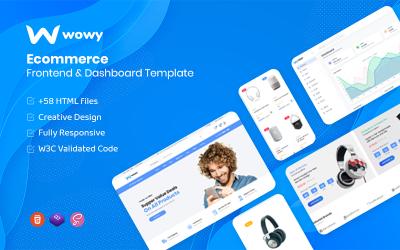 Wowy - modelo HTML do painel e front-end de comércio eletrônico do Bootstrap 5