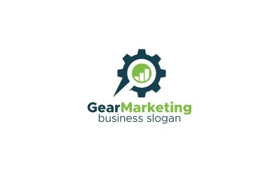 Gear Marketing Logo Template