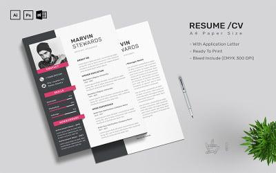 Marvin Stewards - CV Resume Template