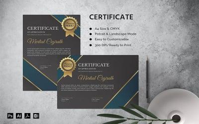 Mertial Cigirath - Certificate Template