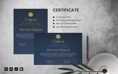 Michael Miguel - Certificate Template
